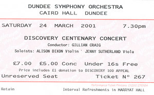 Image of Dicovery Centenary Concert DUNIH 2010.46.3