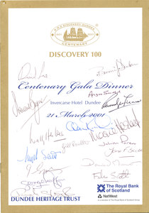 Image of Discovery 100 Centenary Gala Dinner (signed) DUNIH 2010.46.6