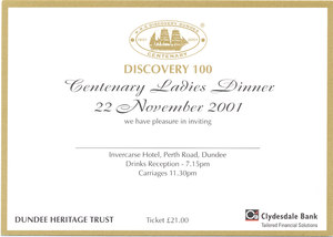 Image of Discovery 100 Centenary Ladies Dinner DUNIH 2010.46.7