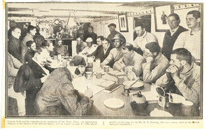 Image of Captain Scott and comrades in wardroom. DUNIH 278.15