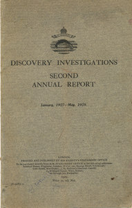 Image of Discovery Investigations Jan 1927-May 1928 DUNIH 399