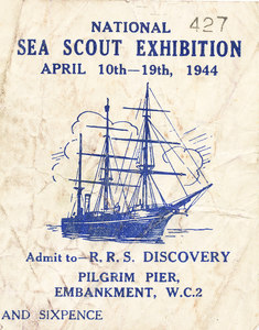 Image of Sea Scouts Exhibition Ticket DUNIH 406.2