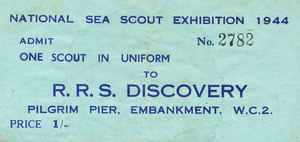 Image of Sea Scout Exhibition entrance ticket DUNIH 406.3
