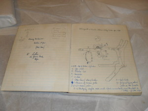 Image of Student Notebook, 'Weaving Mechanisms Textiles' DUNIH 461.4