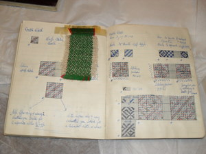 Image of Student Notebook entitled 'Textiles 1st Year' DUNIH 461.6