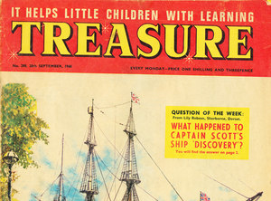 Image of Treasure Magazine with a feature on the Discovery DUNIH 74