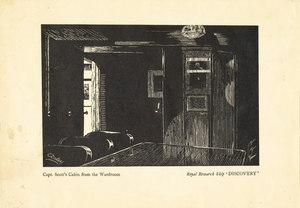 Image of Scott's cabin from wardroom on R.R.S.Discovery K 22.10