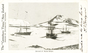 Image of Arrival of Relief Ships, Terra Nova and Morning K 22.14