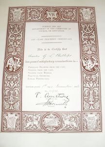 Image of Certificate for Freehand drawing DUNIH 455.4
