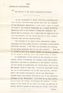 Image of Letter -Markham over doubts re. Shackleton's expedition DUNIH 1.099