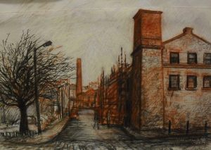 Image of Chalk Drawing of Verdant Works by Allan Beveridge, Dec 2014 DUNIH 2016.7.2