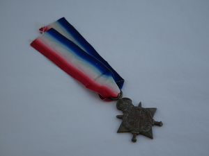 Image of 1914-1915 Star Medal presented to Frank Plumley DUNIH 2016.30.12