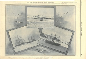 Newspaper cutting showing different images of the Antarctic expedition 1901-4 DUNIH 2016.30.45.5