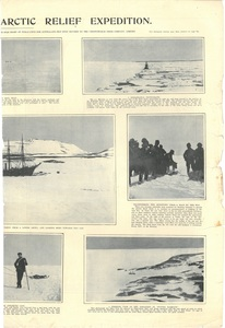 Newspaper cutting showing different images of the Antarctic expedition 1901-4 DUNIH 2016.30.45.6