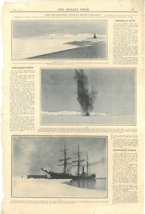 Newspaper cutting showing different images of the Antarctic expedition 1901-4 DUNIH 2016.30.45.11