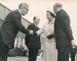 Image of Photograph of the Queen being introduced to Lewis Strachan (Jute Industries Limited Chairman), May 1969 DUNIH 2017.16.2.3