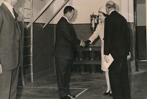 Image of Photograph of the Queen meeting Charles Hutton, May 1969 DUNIH 2017.16.2.10