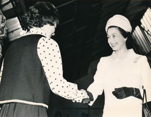 Image of Photograph of the Queen meeting youngest winder, May 1969 DUNIH 2017.16.2.23