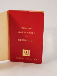 Image of Chichester's Map and Guide of Edinburgh DUNIH 2017.15.4