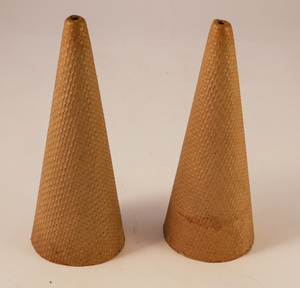 Image of Two empty yarn cone DUNIH 2010.6.17