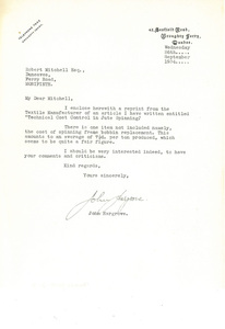 Image of Letter from John Hargrove to Robert Mitchell DUNIH 2018.2.2