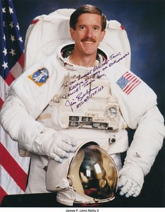 Image of Signed NASA photograph of astronaut Jim Reill DUNIH 2018.5.2
