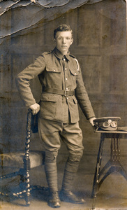 Image of Photograph of William Kennedy in WW1 uniform DUNIH 2018.16.3.2