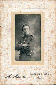 Image of Photograph of William Kennedy in WW1 uniform DUNIH 2018.16.3.3