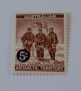 Image of Australian Antarctic Territory stamps- First attainment of magnetic pole DUNIH 2018.27.2