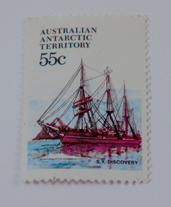 Image of Australian Antarctic Territory stamps- SY Discovery DUNIH 2018.27.8