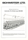 Image of Automatic pirn winder instruction booklet DUNIH 176.14