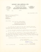 Image of Letter from Livesey & Aspinall re. oil for Winding Machine DUNIH 176.2