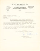 Image of Letter from Livesey & Aspinall re. replacing faulty bracket DUNIH 176.6