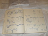 Image of Student Notebook entitled 'Yarn of Cloth Calculations' DUNIH 461.5