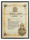 Image of Certificate, Employment of Disabled Men DUNIH 552