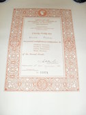 Image of Certificate for Freehand Drawing DUNIH 455.1