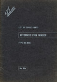 Image of Automatic pirn winder spare parts booklet DUNIH 176.15