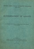 Image of Report on the Derminations of Gravity DUNIH 2014.14.9