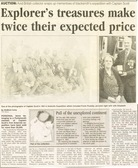 Image of Newspaper cutting relating to the selling of personal items of Frank Plumley DUNIH 2016.30.43.5