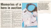 Image of Newspaper cutting relating to the auction of items of Frank Plumley DUNIH 2016.30.43.8