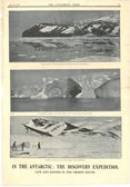 Image of Newspaper cutting showing different images of the Antarctic Expedition 1901-4 DUNIH 2016.30.44.8