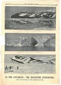 Image of Newspaper cutting showing different images of the Antarctic Expedition 1901-4 DUNIH 2016.30.44.9