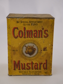 Image of Colman's Mustard Tin, possibly from the Terra Nova Expedition DUNIH 2016.25