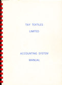 Image of Tay Textiles Limited, Accounting System Manual DUNIH 2016.16.12