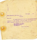 Image of Letter to Hukumchand Jute Mills Ltd., 11th March 1947 DUNIH 2016.11.98