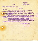 Image of Letter from J. Cargill Ltd. to Hukumchand Jute Mills Ltd., 7th March 1947 DUNIH 2016.11.99