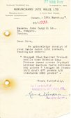Image of Letter from Hukumchand Jute Mills Ltd. to J. Cargill Ld., 15th March 1947 DUNIH 2016.11.105