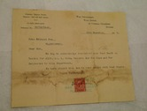 Image of Telegram from War Department, Flax Office, dated 11th Dec 1917 DUNIH 2017.1.24