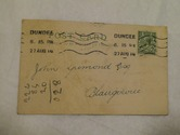 Image of Postcard from Watson & Shield to John Grimond, dated 31st August 1914 DUNIH 2017.1.25.1