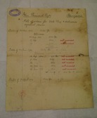 Image of Note written by Watson & Shield listing all orders for 2 1/2 lb flax DUNIH 2017.1.25.4